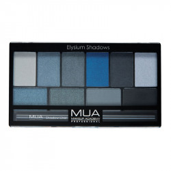 MUA Elysium Shadows Eyeshadow Palette - BlueBlack