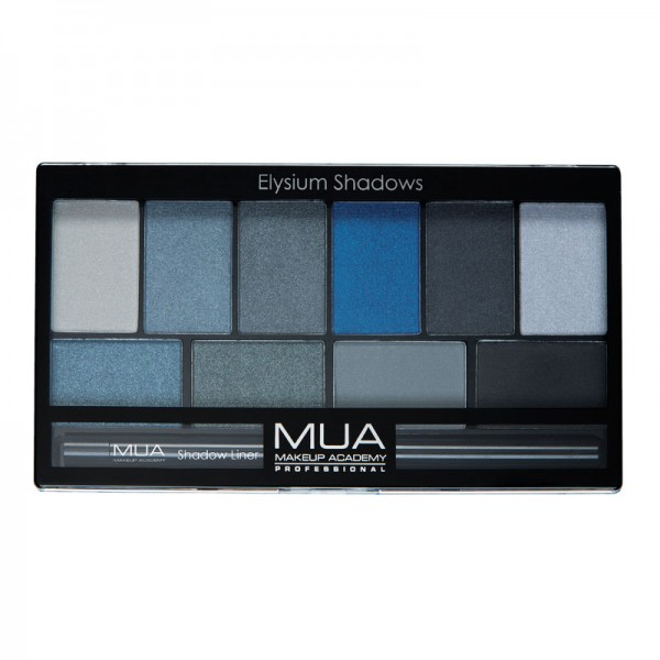 MUA Elysium Shadows Eyeshadow Palette - Blue\Black
