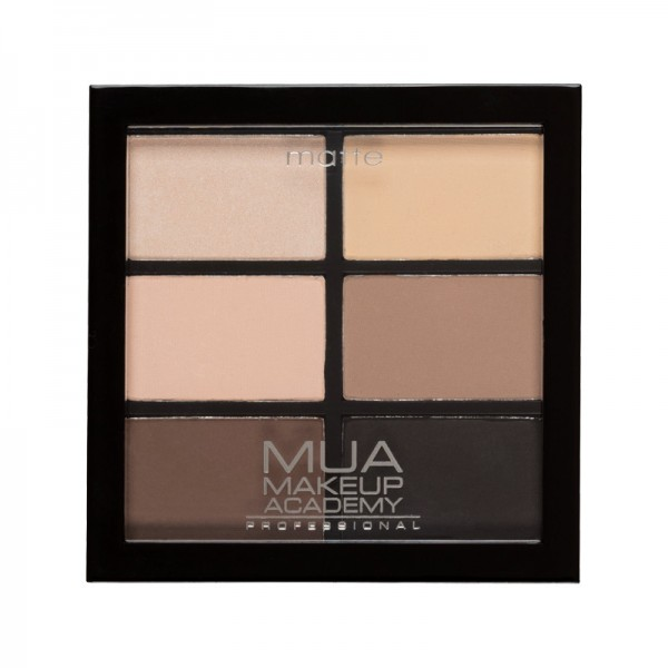 MUA Professional 6 Shade Matt Eyeshadow Palette - Natural Essentials