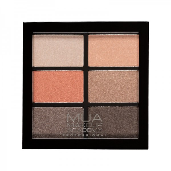 MUA Professional 6 Shade Eyeshadow Palette - Coral Delights