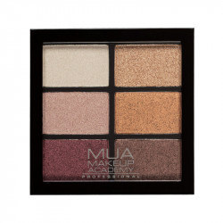 MUA Professional 6 Shade Eyeshadow Palette - Rusted Wonders