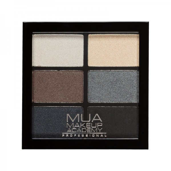 MUA Professional 6 Shade Eyeshadow Palette - Smokey Shadows