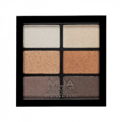 MUA Professional 6 Shade Eyeshadow Palette - Glamour Golds