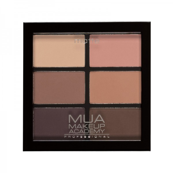 MUA Professional 6 Shade Matt Eyeshadow Palette - Soft Suedes