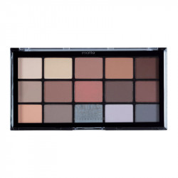 MUA Pro 15 Shade Eyeshadow Palette Matte Feather Light