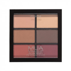 MUA Professional 6 Shade Matte Eyeshadow Palette - Scorched Marvels