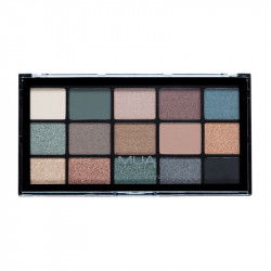 MUA Pro 15 Shade Eyeshadow Palette Green Goddess