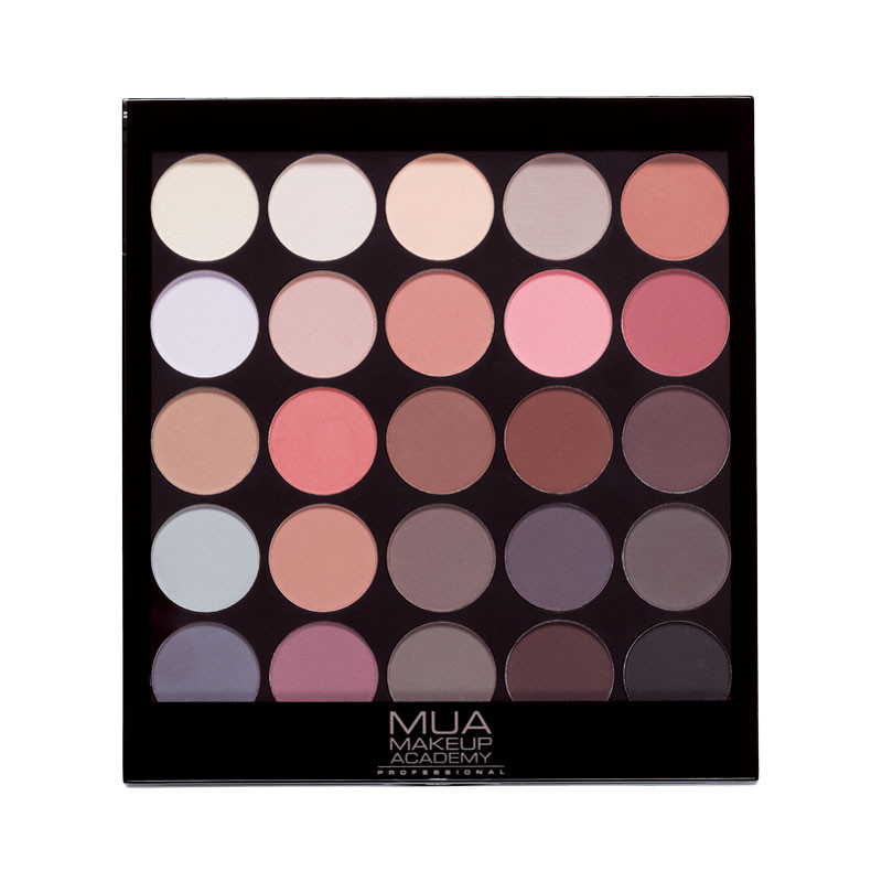 mua matte supreme eyeshadow palette mua cosmetics greece