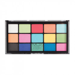 MUA Pro 15 Shade Eyeshadow Palette Colour Burst