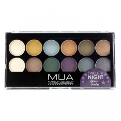 MUA 12 Shade Twelfth Night Eyeshadow Palette