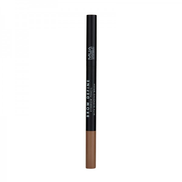 MUA BROW DEFINE EYEBROW PENCIL - WITH BLENDING BRUSH - LIGHT BROWN