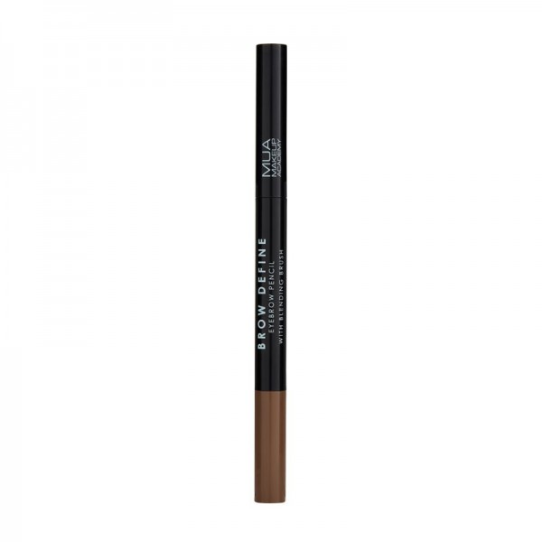 MUA BROW DEFINE EYEBROW PENCIL - WITH BLENDING BRUSH - MID BROWN