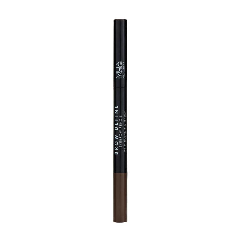 MUA BROW DEFINE EYEBROW PENCIL - WITH BLENDING BRUSH - DARK BROWN. Loading  zoom 9883c3da905