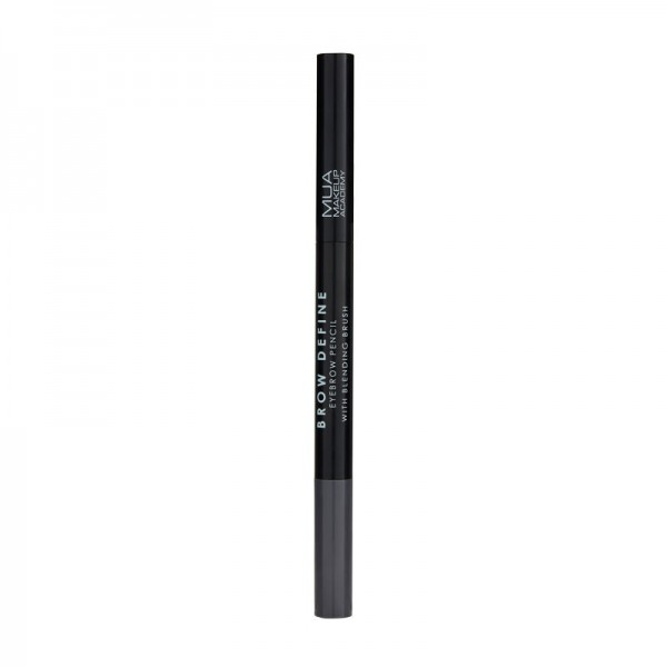 MUA BROW DEFINE EYEBROW PENCIL - WITH BLENDING BRUSH - GREY