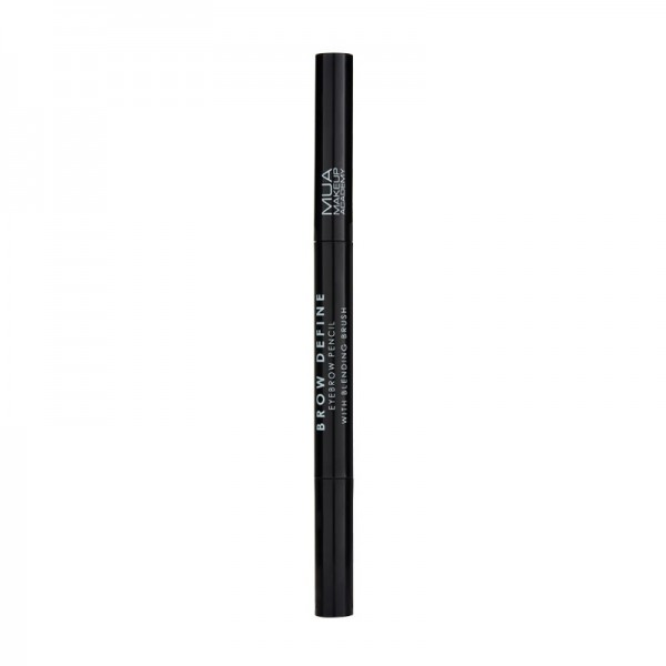 MUA BROW DEFINE EYEBROW PENCIL - WITH BLENDING BRUSH - BLACK