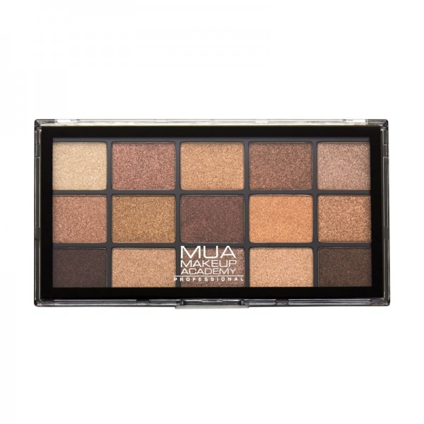 MUA Pro 15 Shade Eyeshadow Palette Metal Wonder