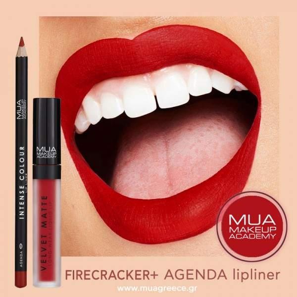 MUA lip combo FIRERCRACKER & AGENDA