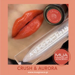 MUA lip set CRUSH & AURORA