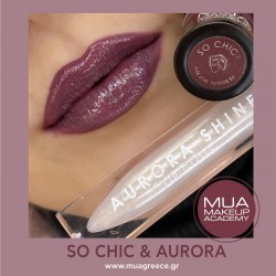 MUA lip set SO CHIC & AURORA