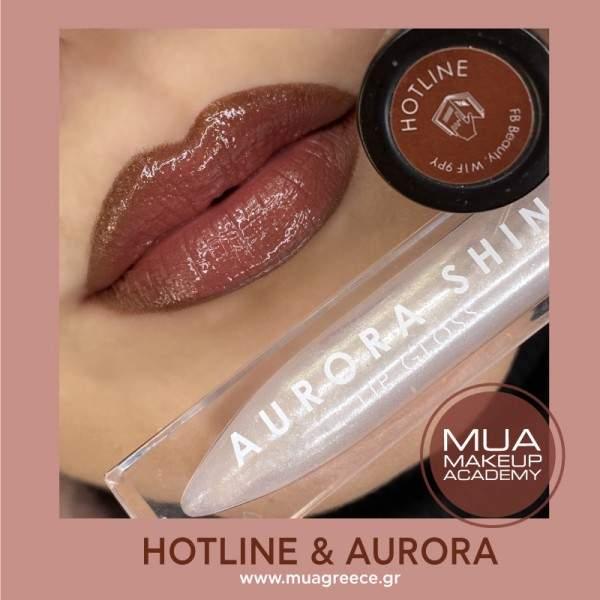 MUA lip set HOTLINE & AURORA