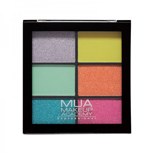 MUA Professional 6 Shade Eyeshadow Palette - Bright Lustre