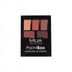 MUA Paint Box Lip Palette Beige Nudes & Honey Browns