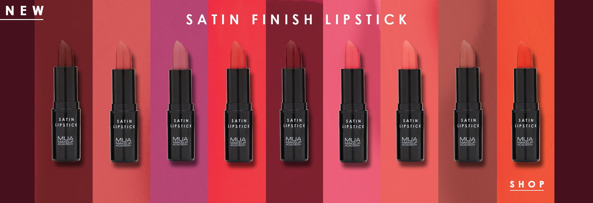 MUA SATIN FINISH LIPSTICK