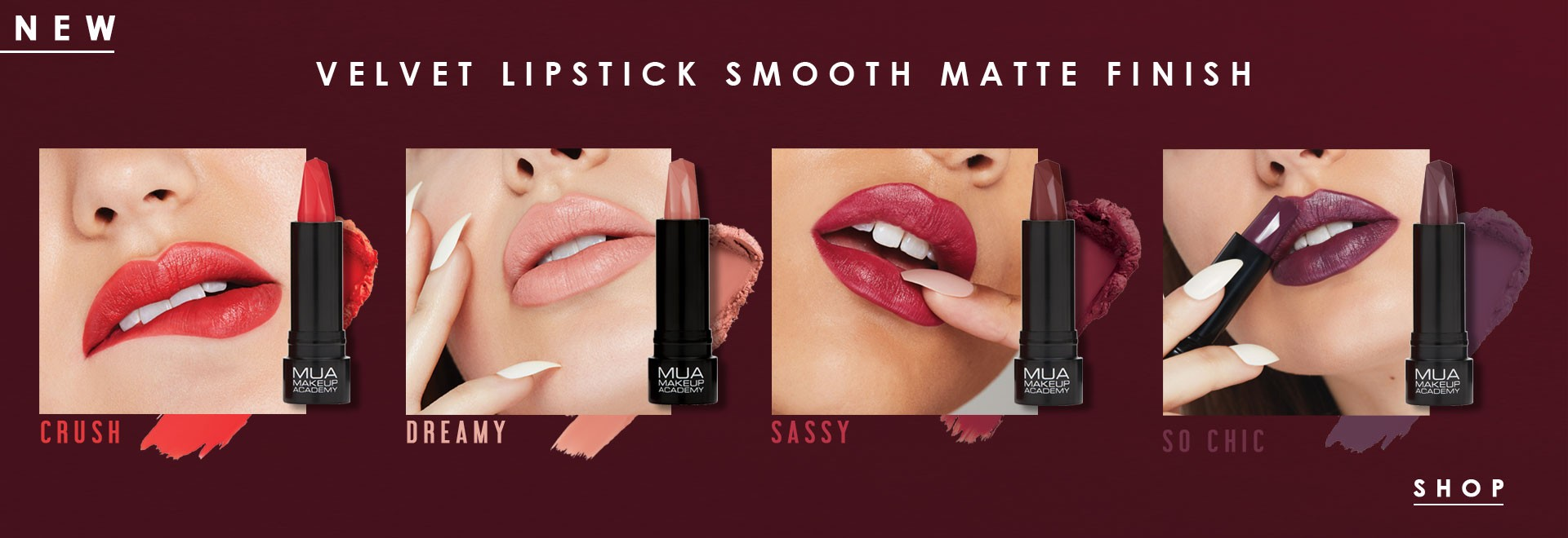 MUA VELVET LIPSTICK SMOOTH MATTE FINISH