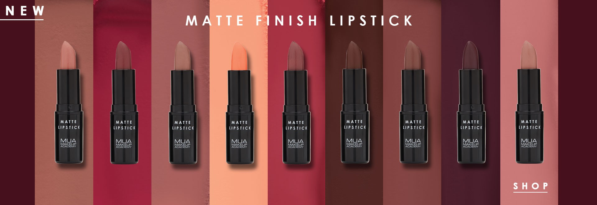 MUA MATTE FINISH LIPSTICK
