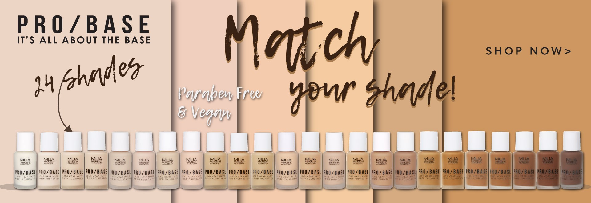 MUA PRO/BASE Long wear Matte Finish Foundation